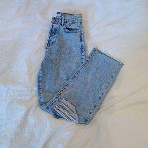 Butterfly Blue Straight Leg Jeans
